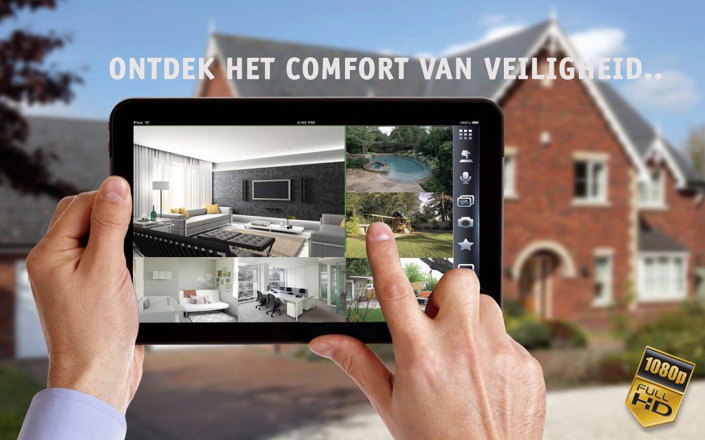 Camerasystemen op tablet